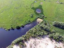 Aerial View Of The Saburb Landscape (drone Image). Near Kiev, Ukraine