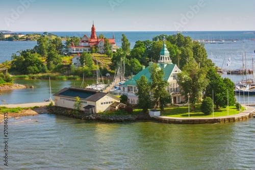 Foto auf AluDibond Rosa dunkel Islands near Helsinki in Finland