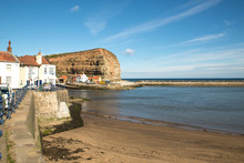 Cliff And Harbour At Staithes,...