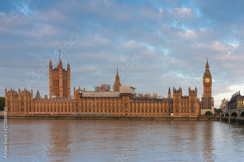 Photo  Palace of Westminster, Big Ben and Westminster bridge
