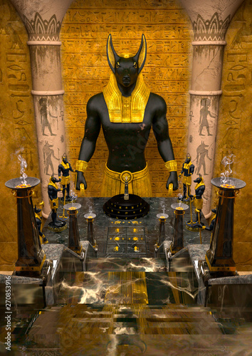 Photo temple of anubis in the old egypt
