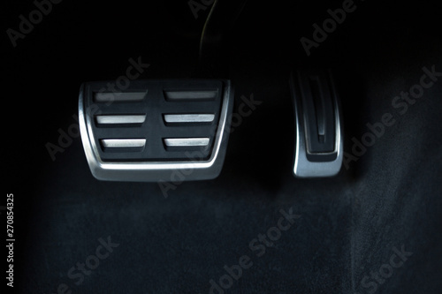 Brake and accelerator pedal of automatic transmission car Wallpaper Mural