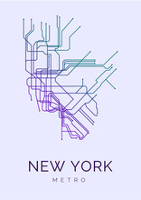New York Metro Line Art