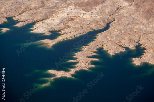 Aerial View of Lake Mead Canvas Print