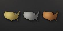 USA United States Metal Colors...