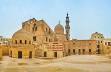 Panorama Of Amir Khayrbak Funeral Complex, Cairo, Egypt