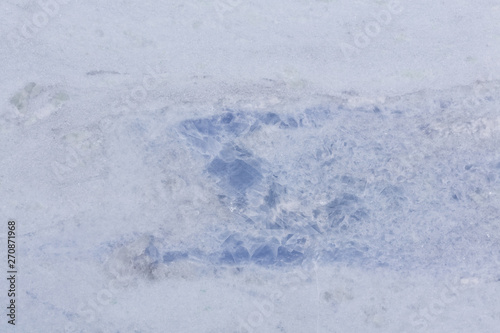 Recess Fitting Marble Classic light marble texture with simple blue colour on surface.