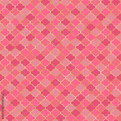 Quatrefoil Seamless Pattern - Classic quatrefoil repeating pattern design Wallpaper Mural