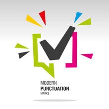 Check Mark Modern Colorful Sign Icon Sticker