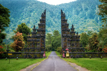 Bali, Indonesia, Architectural Landmark, Temple Gates In Northern Bali