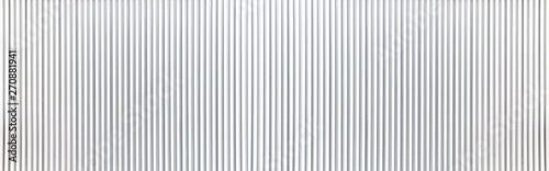 Fotomural Panorama of White Corrugated metal texture surface or galvanize steel background
