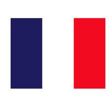 French Flag Geometric Illustration Isolated On Background