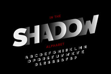 In The Shadow, Stylized Font D...