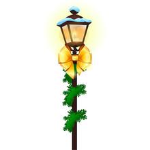 Vintage Street Lamp Decorated ...