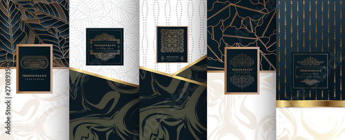 Foto  Collection of design elements,labels,icon,frames, for logo,packaging,design of luxury products