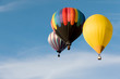 canvas print picture Multi colored hot air balloons on blue sky