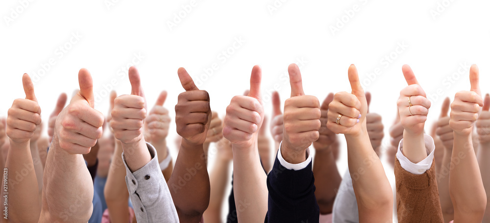 Fototapety, obrazy: Group Of People  Hand Showing Thumb Sign