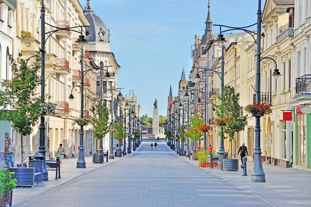 Fototapety, obrazy: Łódź, Polska- widok na Plac Wolności