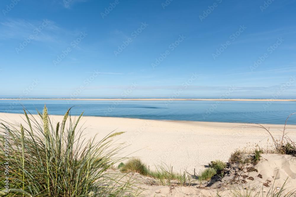 Fototapety, obrazy: BASSIN D'ARCACHON (France), plage du Petit Nice et banc d'Arguin