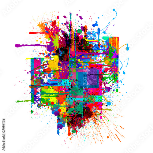 Abstract background with colorful figures