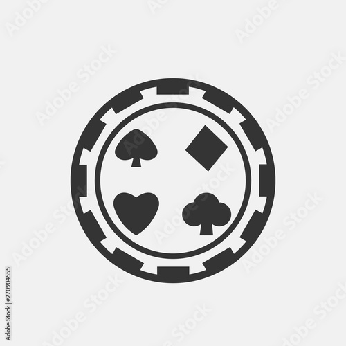 Photo Poker vector icon illustration sign