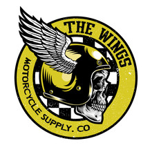 The Wings Motorcycle Emblem Vector Illustration