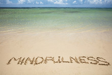 Mindfulness Written Text On Sa...