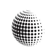 Circle Halftone With Dotts. Ra...
