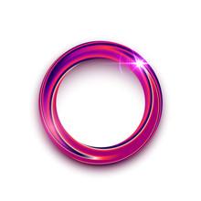 Purple Shining Circle Text Fra...