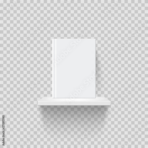 Decorative bookshelf realistic vector illustration Canvas Print