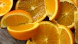 Orange fruit in slow motion