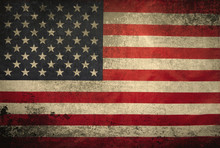 Grunge American Flag Backgroun...
