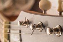 Guitar Head With Pegs, Macro, Daylight, Jazz Club Banner Concept