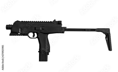 submachine gun isolated on white Wallpaper Mural