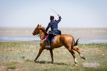 Horseman In Blue Military Clot...