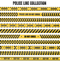 Yellow And Black Police Tape F...