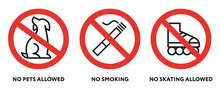 Prohibition Signs. No Pets, Sm...