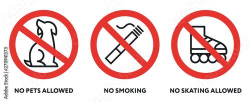 Cuadros en Lienzo Prohibition Signs