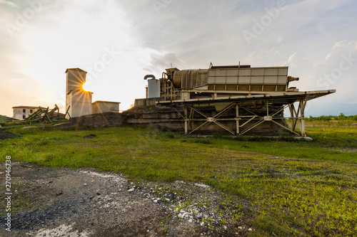 Urban exploration / Abandoned quarry Canvas Print