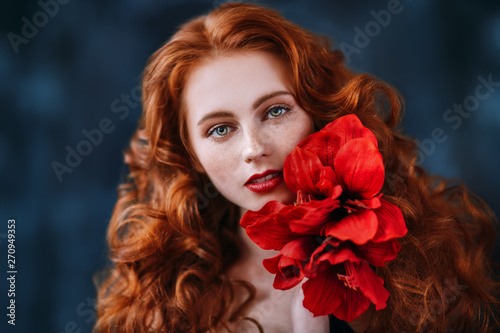 beauty and red flower - 270949353