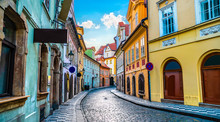 Old Street In Prague