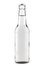 Clear White Glass Bottle Long ...