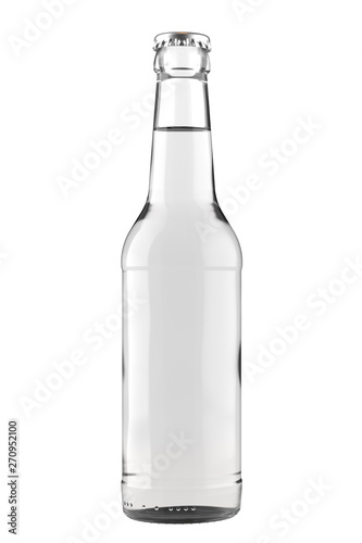 Clear white glass bottle Long Neck with a clear liquid Fototapete