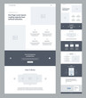 One page website design template for business. Landing page wireframe. Flat modern responsive design. Ux ui website template. Concept mockup layout for development. Best convert page.