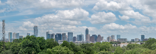 Fotoposter Bleke violet Cityscape View of Downtown Austin With Cloudy Skies