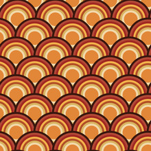 Scallop Scale Circle Seamless Repeat Pattern Design