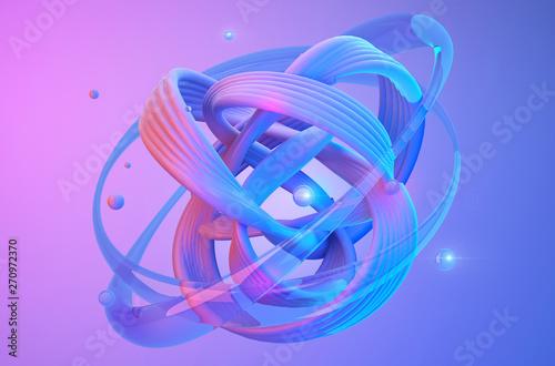Abstract shapes on colorful trendy background Slika na platnu