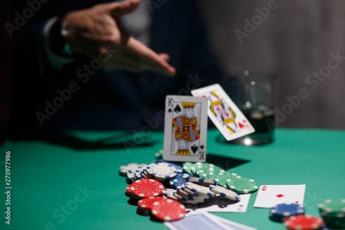 Carta da parati professional poker game