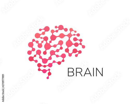 Human brain logo Fototapet