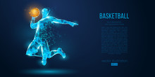 Abstract Basketball Player Fro...